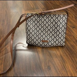 Fossil Grey and Brown Crossbody